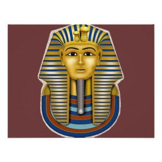 King Tut Mask Costume Tees n Stuff Personalized Invitations