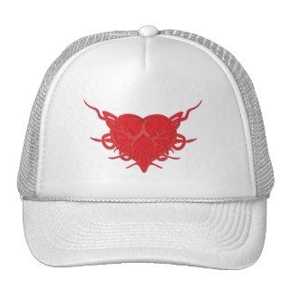 Heart and Thorns Tattoo Trucker Hats