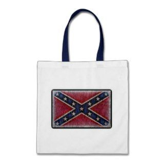Weathered Wooden Redneck Rebel Flag Tote Bags