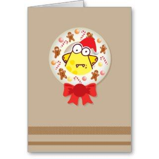 Christmas Wreath With Gingerbread Man Card