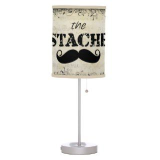 The Stache Mustache Retro Hipster Lamp