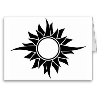 Tribal Sun card, no1