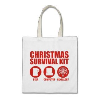 XMAS Survival Kit   Beer Canvas Bag