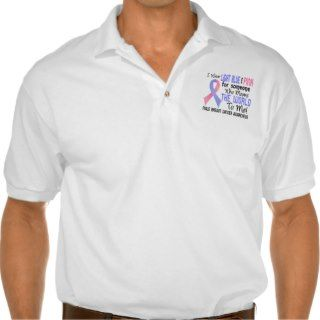 Means The World To Me 2 Male Breast Cancer Polo Shirts