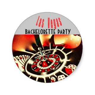 Las Vegas Girls Night Out Dice & Casino Theme Round Sticker
