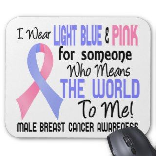 Means The World To Me 2 Male Breast Cancer Mousepad