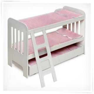Gingham Princess Canopy Doll Bed   Baby Dolls & Furniture