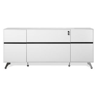 Jesper 400 Collection Storage Credenza   White   File Cabinets at