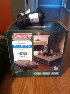 coleman quickbed airbed queen size double high air bed inflatable air mattress