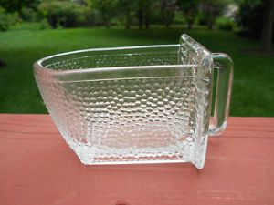 Old Vintage Antique Hoosier Cabinet Style Glass Scoop Kitchen Utensil