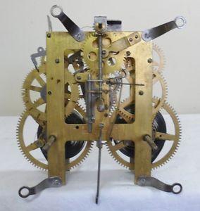 Antique E Ingraham Mantel Mantle Clock Movement Pendulum Parts