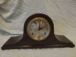 Antique Seth Thomas Camel Back Wind Up Mantel Clock with Key and Pendulum