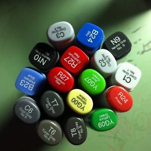 Copic Markers 13 for 25$ Anime Manga Sketch Illustrator Art Supplies Drawing