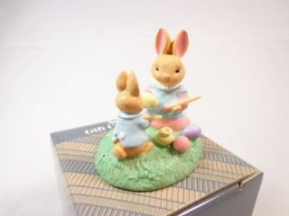 Vintage Avon Forest Friends Mini Figurine Easter Fun Bunny Coloring Eggs NWB