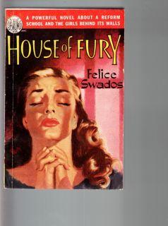 House of Fury Avon Paperback Book 1950 Reform School Girl Felice Swados Can FN