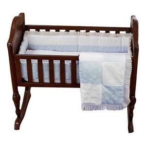 Baby Doll Bedding King Port A Crib Set Blue