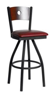 New Darby Commercial Circle Back Restaurant Swivel Bar Stool