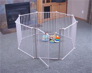 Toddler Baby Child Infant Enclosed Play Area Configurable Metal Play Yard 4 in 1