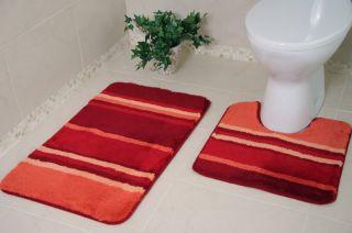 Washable Non Slip Rubber Bathroom Rug Pedestal Toilet Sink Bath Mat Small Large