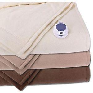 Soft Heat Luxury Microfleece Electric Heated Throw Blanket Assorted Colors