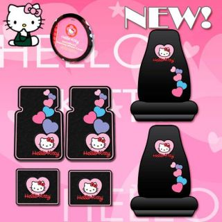 Hello Kitty Car Seat Covers Rubber Mats Accessories Set