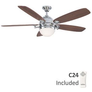"Fanimation FP8000PN Akira Polished Nickel 52"" Ceiling Fan with Remote Control"