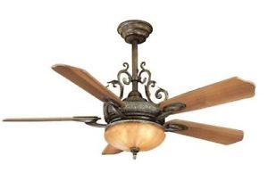 """Hampton Bay Chateau DeVille 52"""" Ceiling Fan with Light Kit Remote Control"""