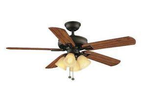 Hampton Bay Lyndhurst 52 inch Ceiling Fan w Light Kit Oil Rubbed Bronze 795 904