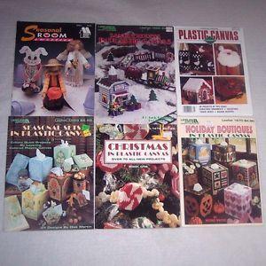 Christmas in Plastic Canvas Santa Express Holiday Seasonal Sets Pattern Book Lot