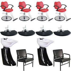 New Beauty Salon Equipment Styling Chair Mat Shampoo Bowl Sink Package EB 45B