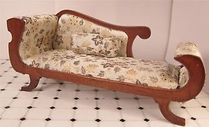 Dollhouse Furniture Victorian Chaise Lounge Empire Sofa Classic Sofa