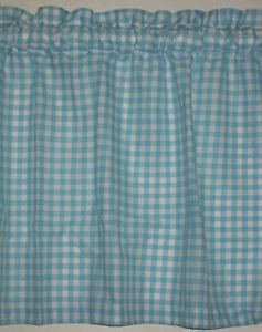 "New Shabby Country 15""Window Curtains Valance Retro Novelty Cottage Gingham Chic"