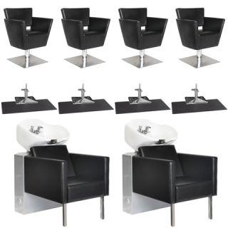 Beauty Salon Equipment Styling Chair Mat Shampoo Backwash Unit Package EB 35A