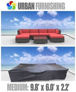 New Medium Cover Outdoor Wicker Patio Sectional Sofa Set Lounge Chaise