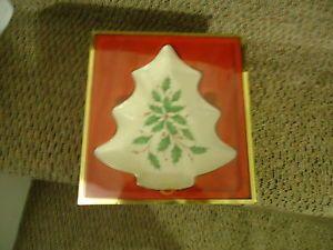 Lenox Christmas Tree Candy Dish