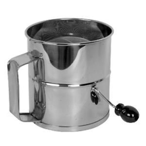 8 Cup Stainless Steel Rotary Baker's Baking Food Flour Sifter Tool Sifting