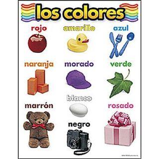 Trend Enterprises Los Colores (Colors) Spanish Learning Chart