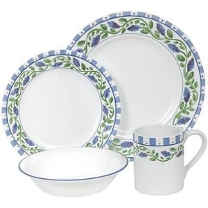 Corelle French Lilac Dinnerware Set New 16 Pieces