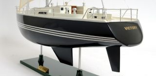 """Handcrafted Victory Sailing Yacht Wooden Model 29"""" Sailboat"""