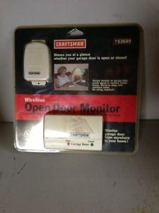 Craftsman 139 53689 Garage Door Wireless Open Door Monitor New