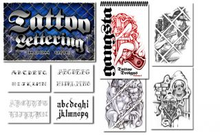 Tattoo Supplies 2 Books Letters Gangster Art Names Prison Style Script 60 Pgs