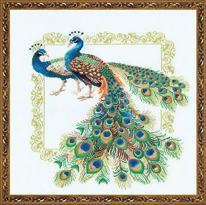 Riolis Counted Cross Stitch Kit Peacocks