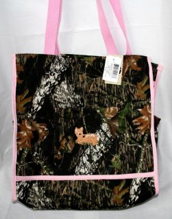 Mossy Oak Camo Camouflage Pink Diaper Bag or Tote Embroidered Fawn Deer
