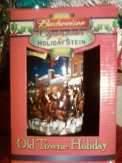 Budweiser Clydesdales Holiday Stein 2003