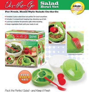 Ideas in Motion on The Go Salad Bowl Set 5 PC Set