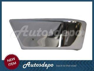 87 92 Mitsubishi Pickup Dodge RAM 50 Pickup Front Center Bumper Bar End Chr 3pc