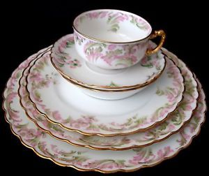 Antique Haviland Limoges France 79pc Dinnerware Set RARE 1876 1878 1889 1931