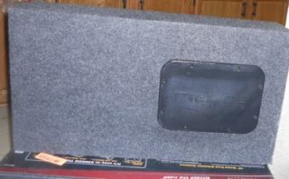 "Fierce Audio 12"" Single Slot Ported Truck Subwoofer Enclosure Gray TSP112 1"