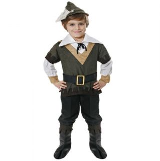 Childrens Kids Robin Hood Fancy Dress Costume Outfit Hat Shirt Belt Boop Tops