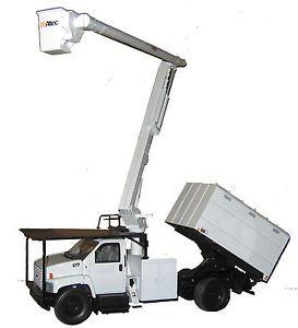 Altec Die Cast Metal Replica Toy Tree Trimmer Truck GMC C7500 1 34 Scale